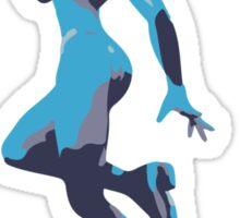 Minimalist Zero Suit Samus from Super Smash Bros. Brawl Sticker