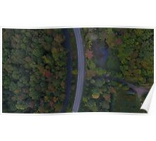 aerial drone road Poster