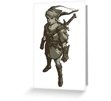 Minimalist Link from The Legend of Zelda Greeting Card