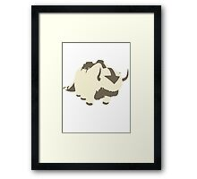 Minimalist Appa from Avatar the Last Airbender Framed Print