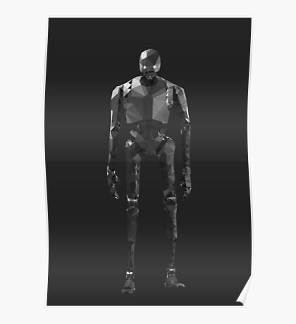 Star Wars K-2SO K2S0 Rogue One Low Poly Poster