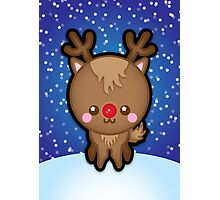 Cute Kawaii Rudolph The Red Nosed Reindeer Photographic Print