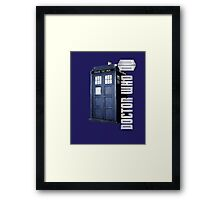 DW. DOCTOR WHO TARDIS Framed Print