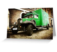 The green antique Greeting Card