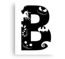 B is for Burton Canvas Print
