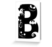B is for Burton Greeting Card