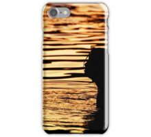 sunset in the sea iPhone Case/Skin