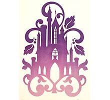 Pink and Purple Castle Photographic Print