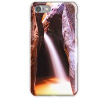Slot Canyon Waterfall, Zion National Park iPhone Case/Skin