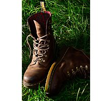 Still Life Boots Photographic Print