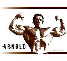 Arnold Schwarzenegger - Front Double Biceps Pose Photographic Print