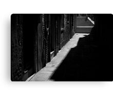 Through the Shadows - Venice Canvas Print