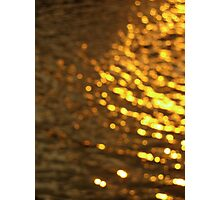 Gold Water Photographic Print