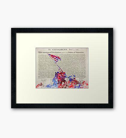 Iwo Jima Delcaration of Freedom Framed Print
