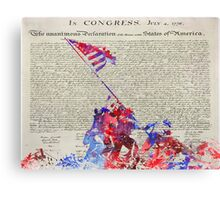 Iwo Jima Delcaration of Freedom Canvas Print