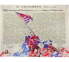 Iwo Jima Delcaration of Freedom Photographic Print