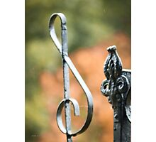 Sadlers Chapel Cemetery Gate Detail Photographic Print