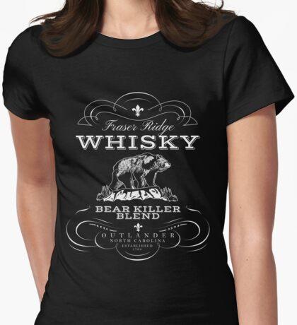 Bear Killer Whisky Womens Fitted T-Shirt