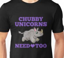 Chubby Unicorns Need Love Too Save Rhinos from Extinction Unisex T-Shirt