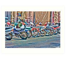 Motorcycle Parking Art Print