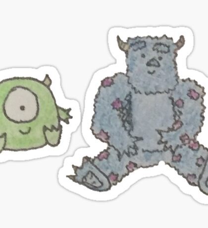Monsters Inc Plushies Sticker