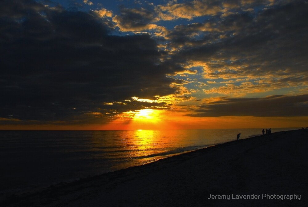 Sunset over Sanibel Island in Florida by Jeremy Lavender Photography