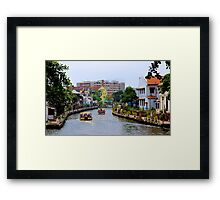 The Alive Channel - Malaga, Malaysia. Framed Print