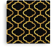Gold mughal lattice Pattern Canvas Print