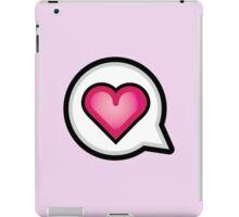 Cute Kawaii Love Speech Bubble iPad Case/Skin
