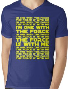 The Force is with me and I am one with the Force Mens V-Neck T-Shirt