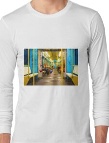 Subway carriage in Milano, Italy Long Sleeve T-Shirt