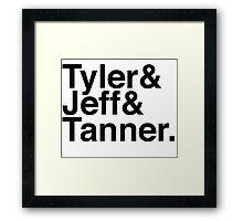 Tyler & Jeff & Tanner Framed Print