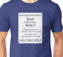 TARDIS Door Bad Wolf Sign Unisex T-Shirt