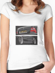 VW Bora LowLife Women's Fitted Scoop T-Shirt