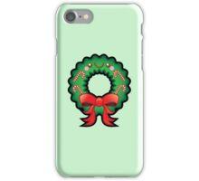 Cute Kawaii Christmas Wreath iPhone Case/Skin