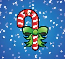 Cute Kawaii Christmas Candy Cane by Ladypixelle