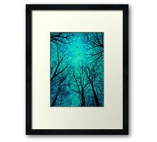 A Certain Darkness Is Needed II (Night Trees Silhouette) Framed Print