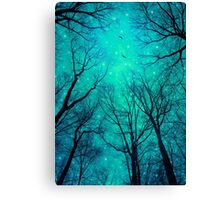 A Certain Darkness Is Needed II (Night Trees Silhouette) Canvas Print
