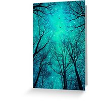 A Certain Darkness Is Needed II (Night Trees Silhouette) Greeting Card