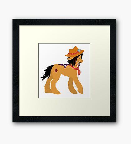Ace pony Framed Print
