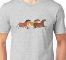 Cave Horses in Beige Unisex T-Shirt