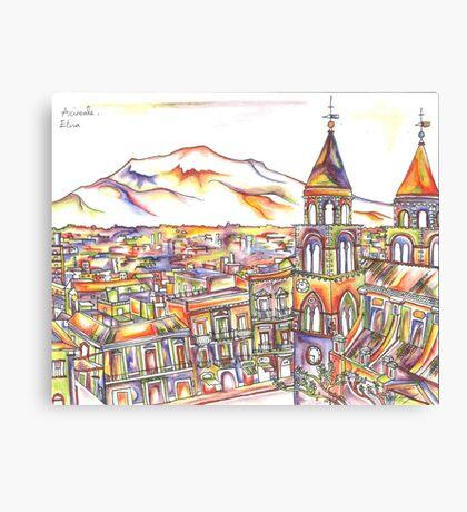 Sicily in Colour  Canvas Print