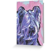 Skye Terrier Bright colorful pop dog art Greeting Card