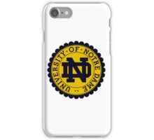 UNIVERSITY OF NOTRE DAME iPhone Case/Skin