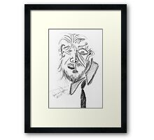 Jeff Bridges (Cubist portrait) (2011) Framed Print