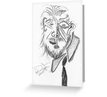 Jeff Bridges (Cubist portrait) (2011) Greeting Card