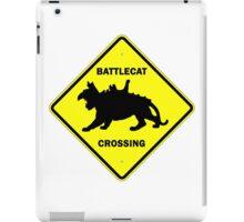 Battlecat Crossing Road Sign iPad Case/Skin