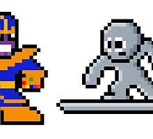 8-bit Infinity Gauntlet- Thanos Silver Surfer Death Adam Warlock by 8 Bit Hero