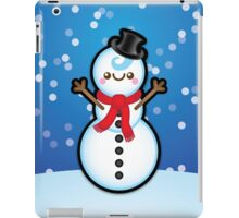 Cute Kawaii Christmas Snowman iPad Case/Skin