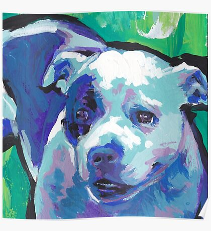 staffordshire Bull Terrier Bright colorful pop dog art Poster